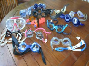 photo of various types of swimming goggles
